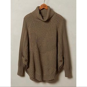 Anthropologie Angel of the North Olive grey Poncho